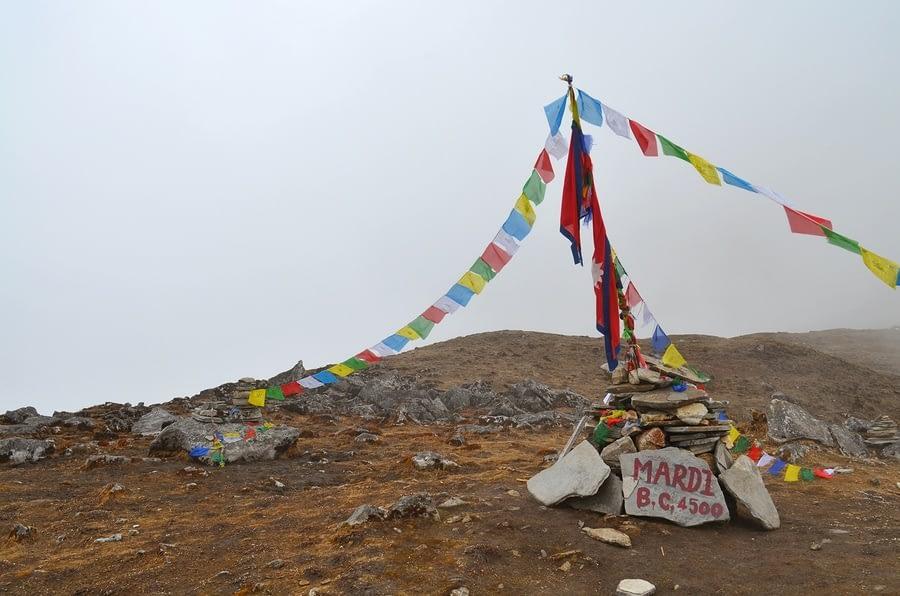 Mardi Himal Base Camp in Nepal, Annapurna region